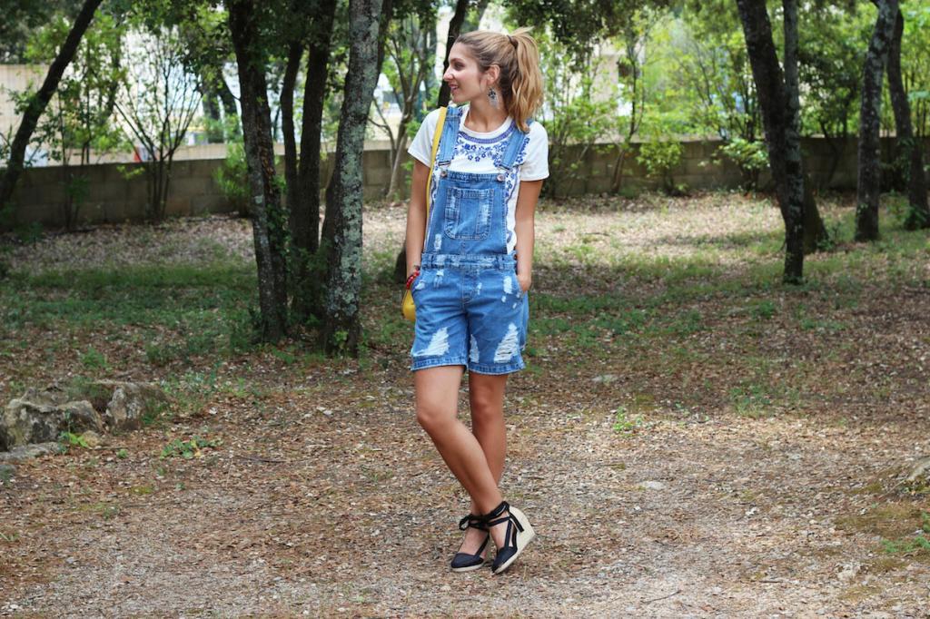 Salopette en Jeans Short Asos
