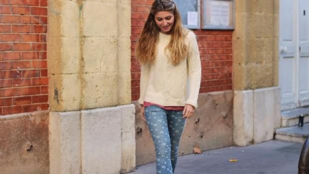 Jeans Motif Fleur Free People
