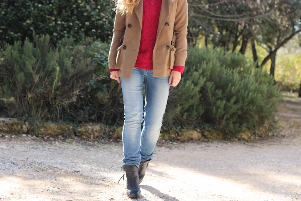 Jeans Levis Pull Rouge Maille Mango