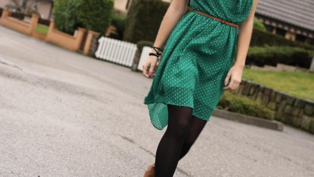 Robe Zara Verte Noel Soirée