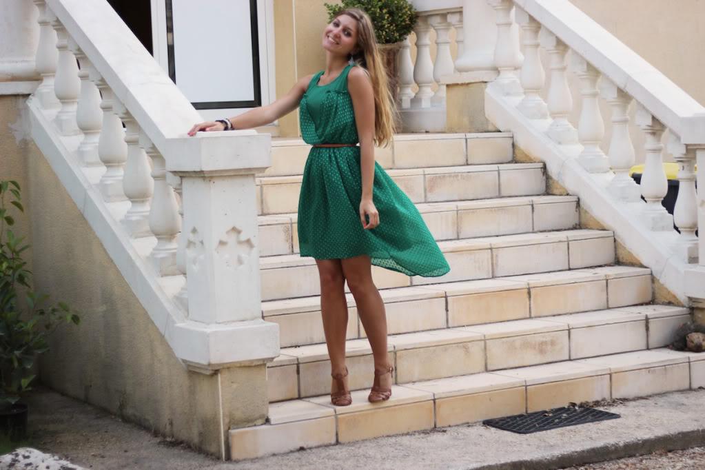 Robe Zara Vert Emeraude