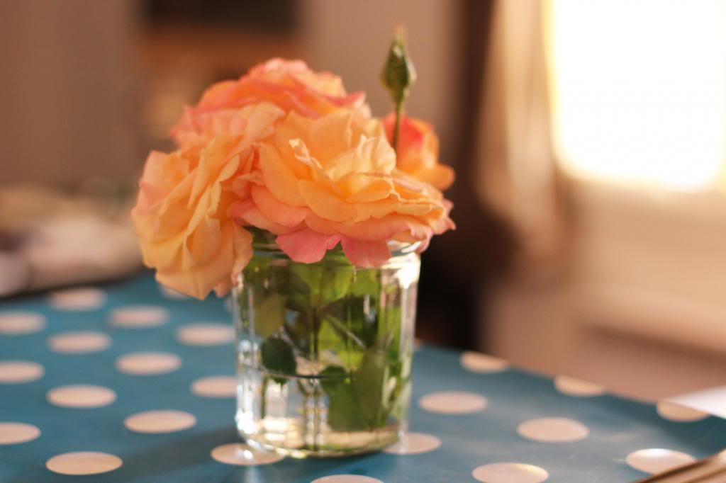 Fleurs Pot à Confiture comme vase