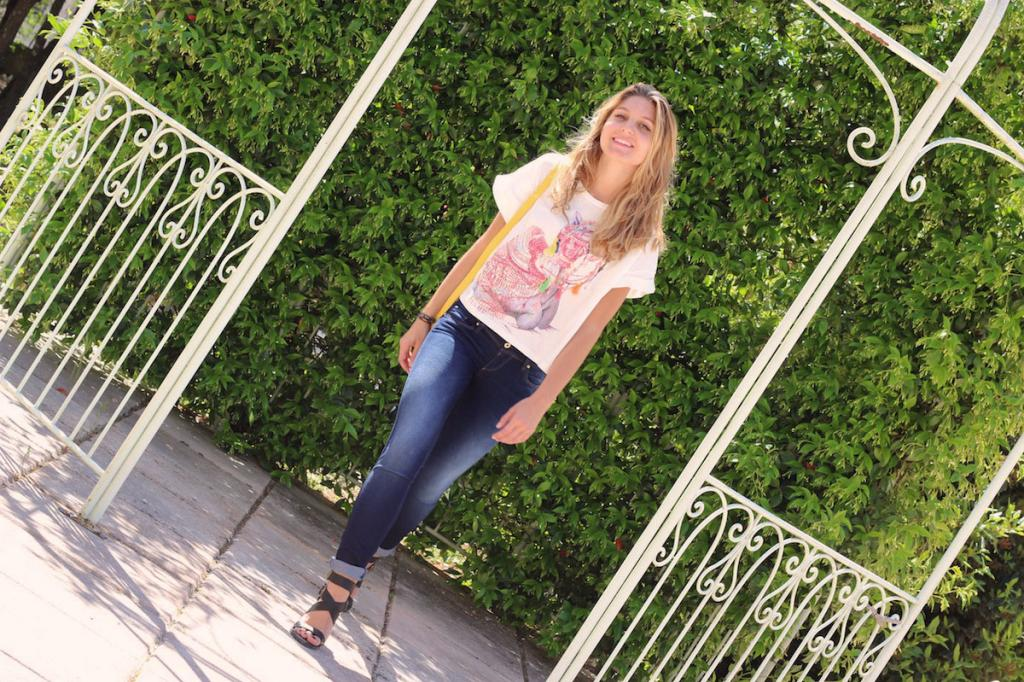 T-Shirt Chameau SheInside Jeans Fit Salsa