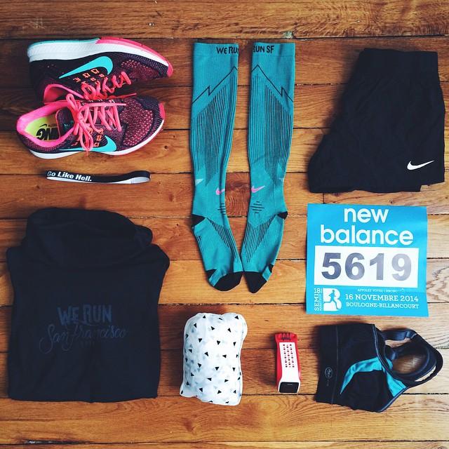 Prête pour mon dernier semi-marathon de l'année ?⚡️ je ne vais pas courir avec un objectif mais faire moins d'1h55 serait cool pour bien finir ma saison?? En tout les cas, je vais courir avec plaisir ??Vous faites une course officielle demain ? #sundayrun #halfmarathon #boulogne #werunparis #racepack #nikerunning #dubndiducrew #motivation #race #fitspo #girlslove2run ☀️??