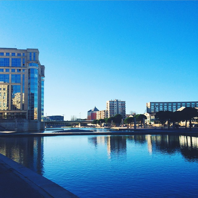 Such a lovely Day in MONTPELLIER ?☀️? #montpellier #southoffrance #sun #rivesdulez #sunny #sunnyday #reflexion #river #vsco #vscocam #france