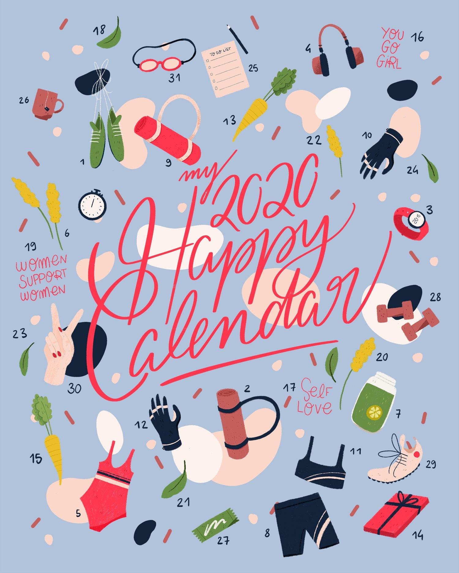 My 2020 Happy Calendar : Débuter Janvier Ensemble